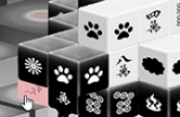 Black and White Dimensions Mahjong Game