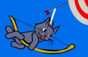 Cat with Bow Golf